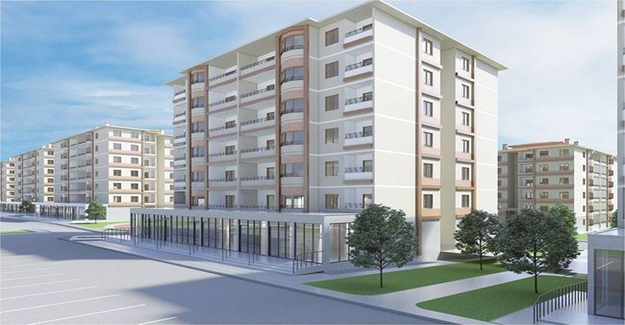 Amasya Suluova'ya modern mimaride 665 konut