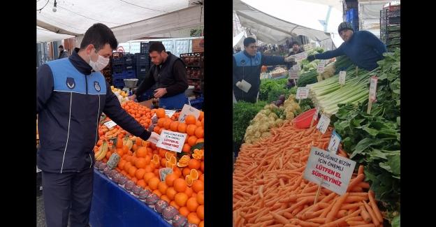 Bağcılar'da semt pazarlarına seç-al yasağıyla ilgili gerekli uyarılar yapıldı