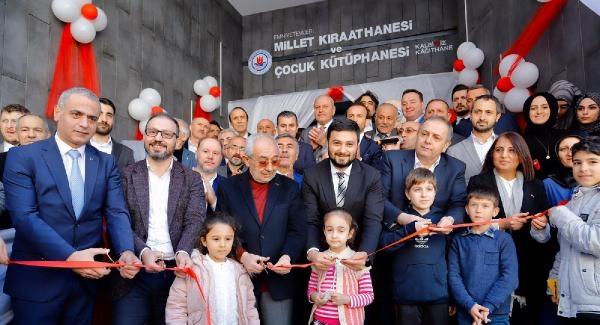 Kağıthane'de Millet Kıraathanesi ve Çocuk Kütüphanesi hizmete açıldı