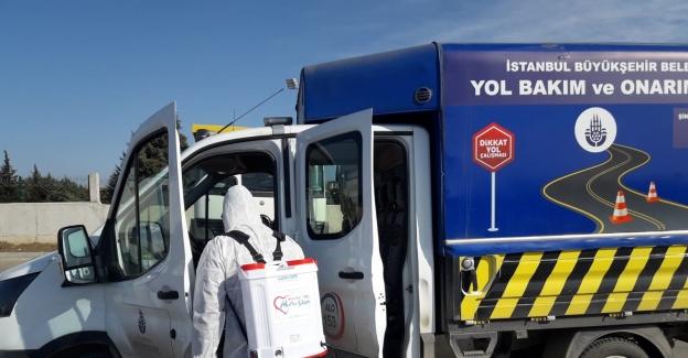 Silivri'de dezenfekte çalışmaları artarak devam ediyor