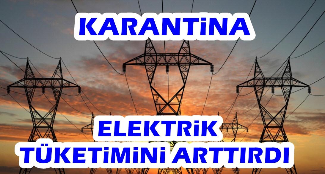 Karantinada meskende elektrik tüketimi arttı