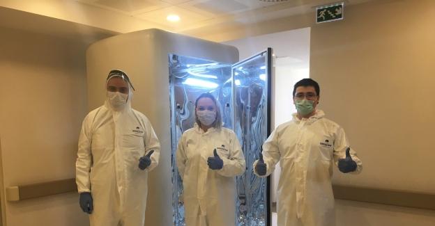 Virüsü 30 saniyede öldüren dezenfeksiyon kabini tasarladılar