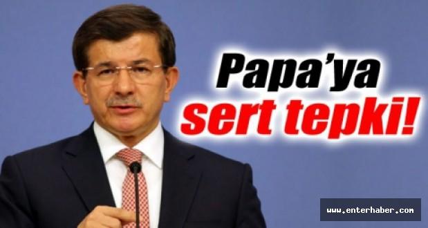 Başbakan Davutoğlundan, Papa Francesconun Açıklamalarına Yanıt