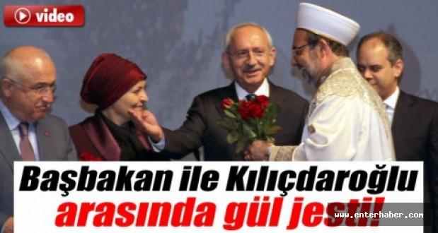 Başbakan İle Kılıçdaroğlunun Gül Jesti