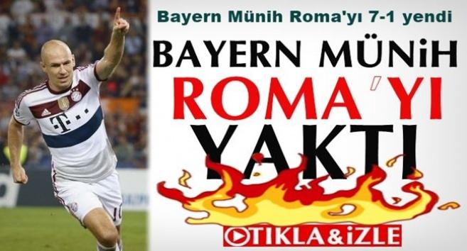 Bayern Münih Roma'yı 7-1 yendi İZLE