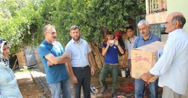 Ceylanpınar Osmanlı Eğitim Ocakları 'Ramazan Yardım Paketi' Dağıttı