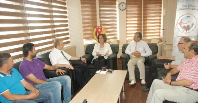 CHP Milletvekili Usluer Eskişehir Gazeteciler Cemiyeti Yönetimini Ziyaret Etti