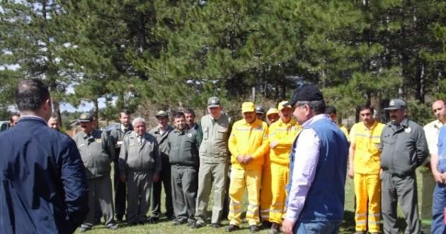 Daday Orman İşletmesinde Yangın Tatbikatı