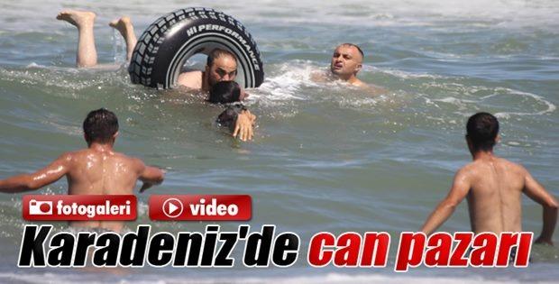 Denize Giren 3 Kişi Boğulma Tehlikesi Geçirdi
