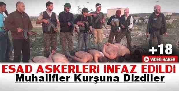 Esad askerlerinin infaz edilişi yayınlandı İzle