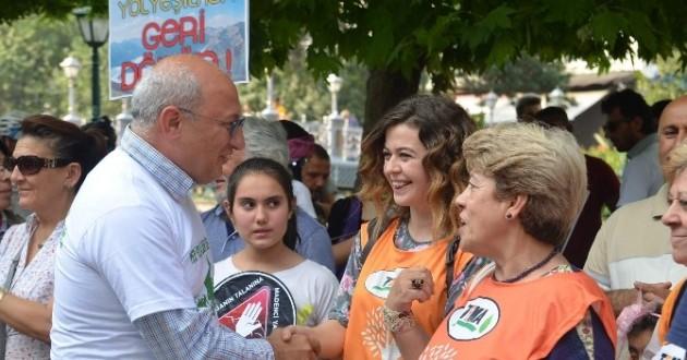 "Eskişehir'de ""Yeşil Yol"" Protestosu"