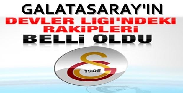 Galatasaray'ın Devler Ligi'ndeki Rakipleri Belli Oldu iZLE