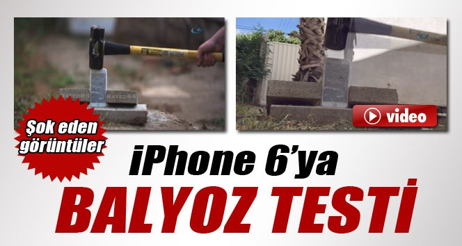 İPhone 6'ya Balyozla Dayanıklılık Testi İzle