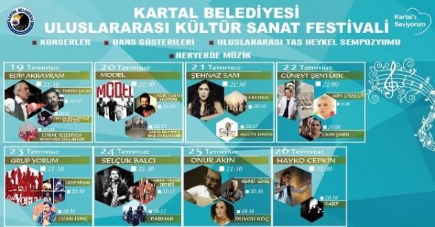 Kartal Belediyesi Uluslararası Kültür Ve Sanat Festivali Başlıyor