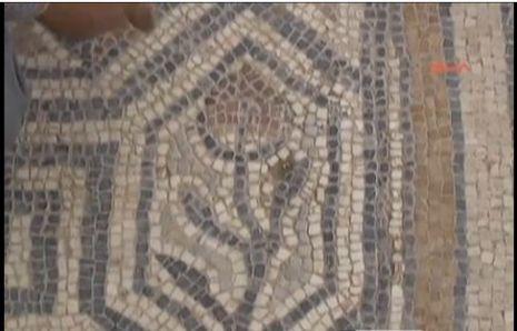 Laodikya Kazılarında Mozaik üzerine Lale figürü bulundu-İZLE