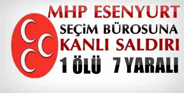 MHP Seçim Bürosuna Kanlı Saldırı 1 Ölü 6 Yaralı İzle