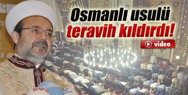 Osmanlı padişahları gibi teravih namazı kılındı İzle