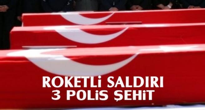 Polise Roketli Saldırı 3 Polis Şehit
