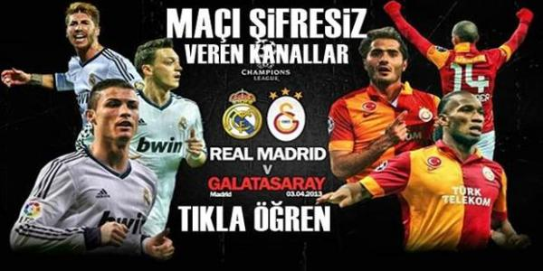 Real Madrid Galatasaray Maçı Şifresiz Veren Kananallar