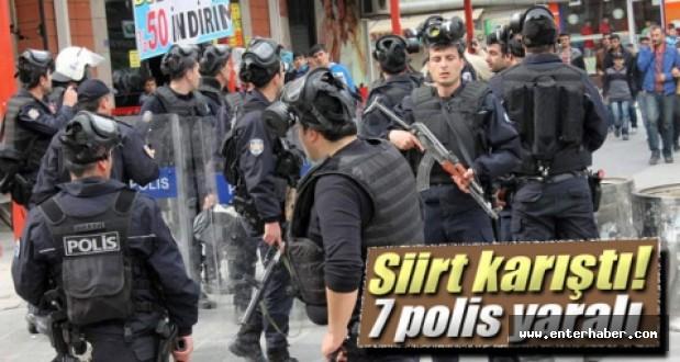 Siirtteki Olaylarda Yaralı Polis Sayısı 7ye Yükseldi