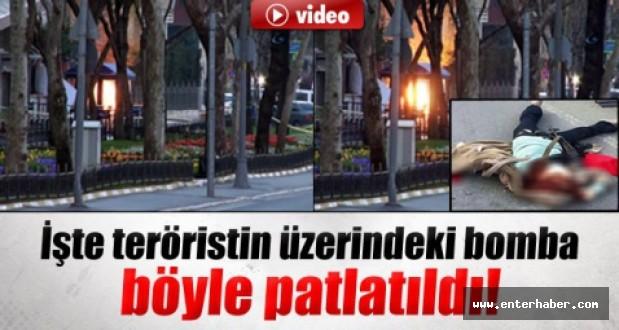Teröristin Üzerindeki Bomba Fünye İle Patlatıldı İzle