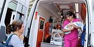 112 Ambulansı Ömer Bebek İçin Havalandı