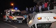 Aksarayda Otomobil Takla Attı: 2 Yaralı
