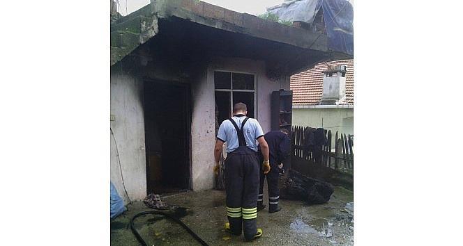Alaplı'da Ev Yangını