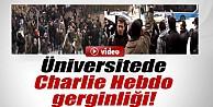 Ankara Üniversitesinde Charlie Hebdo gerginliği İZLE