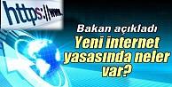 Bakan Elvandan internet yasası ile ilgili açıklama
