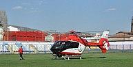 Bozüyükte Küçük Bartu, Helikopter Hava Ambulans İle Boluya Sevk Edildi