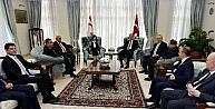 Cumhurbaşkanı Erdoğan, Meclis Başkanı Siber Ve Siyasi Parti Başkanlarıyla Biraraya Geldi