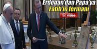 Cumhurbaşkanı Erdoğan, Papa'ya Fatih'in Fermanını Hediye Etti