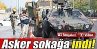 Diyarbakır'da Asker sokağa indi İZLE