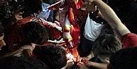 Diyarbakırda Galatasaray Bayrağı Yakıldı