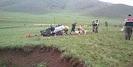 Erzincanda Otomobil Takla Attı: 2 Ölü, 1 Yaralı