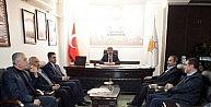 Eski Başkan Fırat'tan Yeni Başkan Bilen'e 'hayırlı Olsun' Ziyareti