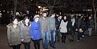 Eskişehirde Havai Fişekli Kobani Kutlaması
