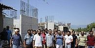 Fakülte İnşaatında Çalışan İşçiler Eylem Yaptı