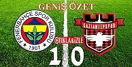 Fenerbahçe Gaziantepspor'u 1-0 mağlup etti