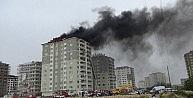 Gaziantepte Çatı Yangını Korkuttu