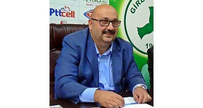 """Giresunspor Kulüp Başkanı Bozbağ'dan """"mayıs 2015'ten Sonra Yokum"""" Açıklaması"""