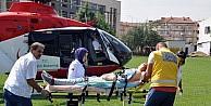 İntihara Teşebbüs Eden Genç Kız, Hava Ambulansı İle İnegöl'e Getirildi