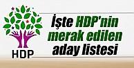 İşte HDP'nin merak edilen aday listesi
