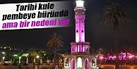İzmir Saat kulesi pembe...