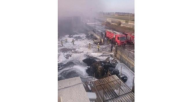 İzmir'de Kimya Fabrikasında Korkutan Yangın