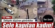 İzmir'de Sel Suları Araçları Sürükledi İzle