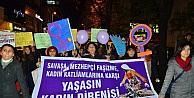 Kadın Dayanışması Kadına Şiddete Karşı Yürüdü