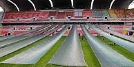 Kadir HAS Stadyumunda Çimlere Perde Koruması