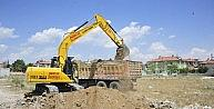 Karaman'da Spor Kompleksi Projesi'nde Çalışmalar Başladı